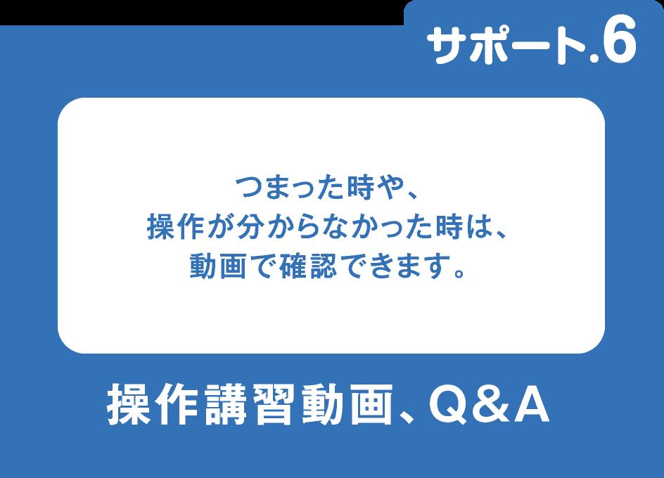 操作講習動画、Q&A